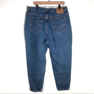 Vtg Levi's high waisted 550 Jeans USA tapered 80s